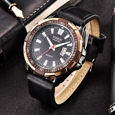 Men's Fashion Automatic Mechanical Watch Date Day Leather Strap Wrist Watches
