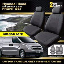 HYUNDAI ILOAD Custom Made Seat Covers 02/2008-2018 Charcoal I-LOAD AIRBAG SAFE