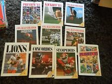 1983 BC Lions set of 10 programs CFL all nice & intact! -1st year BC PLACE*