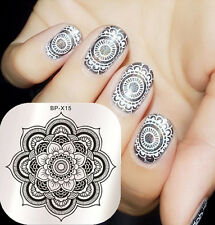 Nail Art Stamp Stencil Image Stamping Plate Floral Design BORN PRETTY BP-X15