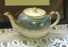 Vintage Sadler Teapot teal band w/ gold scrolls #3382