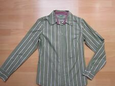 Benetton Damen Bluse gestreift grün olive weiß beere Gr. S RAR !!! SELTEN !!!