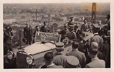 912) BOLOGNA 1928, RE VITTORIO EMANUELE II IN MACCHINA VERSO IL RIZZOLI.