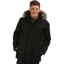 Cappotti e giacche da uomo stile parka nero con cerniera