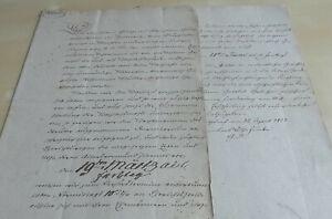 Documents 1852, Estate Johann Gottfried Albrecht & Sister IN Spittewitz