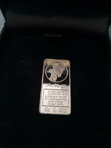 Extremely Rare! Walt Disney Scrooge McDuck LE of 100 Sterling Silver Coin Bar