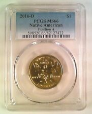 2016-D Sacajawea Native American Dollar PCGS MS66 Position A