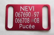 PLAQUE Médaille gravée rouge collier Chien harnais gravure offerte gm
