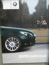 BMW Individual 5er E60 Limousine 3/2004 Brochure Catalogue Katalog Rarität