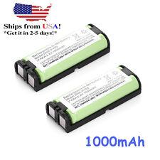 2 pcs 2.4V 1000mAh Home Phone Battery for Panasonic HHR-P105 P105 HHRP105A KX242