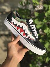 Custom Bape Shark Teeth Vans Old Skools