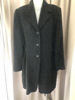 Amazing ! TEHEN France Grey Lined Coat , Sz 3 Fr ( Au 10) , As New, RRP $1185