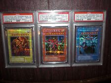 YuGiOh God Cards PSA Graded 10 GEM MINT Slifer Obelisk Ra G4 01 02 03 SECRET JPN