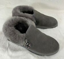 Crown Magic Australian Sheepskin Size 7.5 Slippers Flats House Shoes Gray
