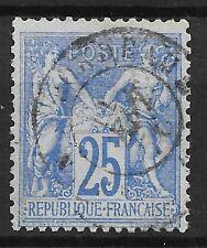 FRANCE : TYPE SAGE 25c OUTREMER N° 68 AVEC OBLITERATION LEGERE - COTE 90 €