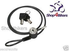 Motorcycle scooter helmet lock cable loop lock secure helmet gear bags 90cm long