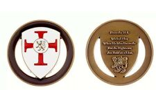 PROVERBS 28:1 SHIELD CROSS Soldier Prayer WICKED FLEE BOLD..LION Challenge Coin