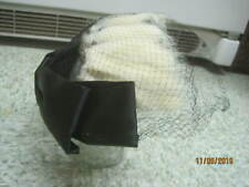 Vintage Woman's Hat Headband black Satin Bow with white Fur Tails & Netting