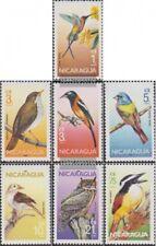 Nicaragua 2637-2643 (complète edition) neuf avec gomme originale 1986 Oiseaux