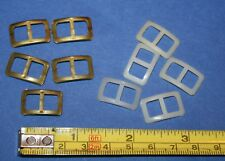 10 Plastik Schnallen für Puppen Schuhe Gürtel Hüte Kleider Träger ca.2x1,2cm