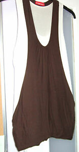 Top - Brown / white - size 8