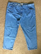 Arizona Relaxed Mens Tg Size 52×32-Actual 50x31 Light Blue Jeans Zip 5 Pocket