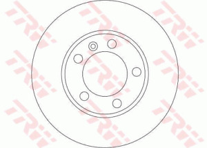 TRW Brake Rotor Front DF4249S fits Renault Master 2.5 dCi 100 (FD) 73kw, 2.5 ...