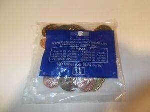 SACHET PIECES EURO STARTER KIT  sachet scellé  1er euro France   2000