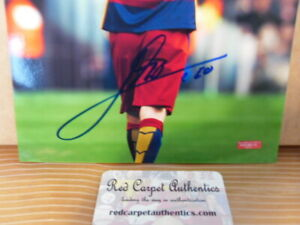 """Lionel Messi Autographed 8"""" x 10"""" Photo with COA"""