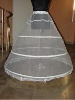 A LINE 3-HOOP Ball Bridal WEDDING Gown BONE FULL CRINOLINE PETTICOAT SKIRT SLIP