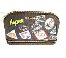 Michael Kors Aspen Large Brown Traveling Bag Purse Pouch New MSRP $168-- Dec19