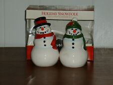 2004 Publix Holiday Snowfolk Salt & Pepper Shakers ~ Premiere Edition  New!