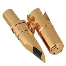 Tenor Saxophone Sax Mouthpiece Cap Ligature Gold plate 6# Good Sound
