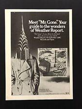 1978 Vintage Print Ad 70's WEATHER REPORT Mr Gone Album Release
