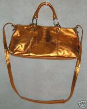 New PLINIO VISONA Metallic Leather Handbag Shoulder Bag