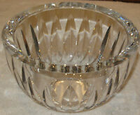 "Antique/Vintage Crystal Glass 20th Century Open Fruit Bowl 7 1/2"" Diam x 4 1/2"""