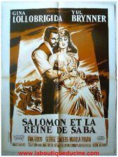 SALOMON ET LA REINE DE SABA Affiche Cinéma LITHOGRAPHIE