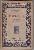 M. BUONARROTI LE POESIE. CON PREFAZIONE DI GIOVANNI AMENDOLA LANCIANO 1911-L3837
