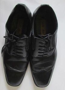 Men's Delli Aldo Black Oxford Cap Toe Oxford lace up Dress Shoes sz 10.5