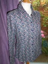 Mc Gregor New York 1921 Black Tiny Ditsy Floral Shirt Size 40 BNWOT 100% Cotton