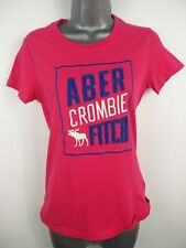 BNWT WOMENS ABERCROMBIE & FITCH PINK CREW NECK  T SHIRT TOP SIZE MEDIUM