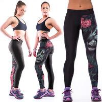 Womens Ladies Yoga Gym Trousers Leggings Fitness Jogging Running Sports Pants
