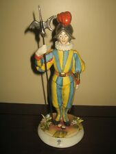 Capodimonte porcelain figurine - Soldier of Swiss guards for Vatican Army