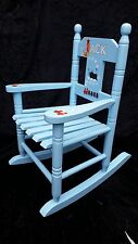 Children's Wooden Personalised Rocking Chair - ANY NAME & HAND PAINTED with poem