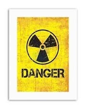 DANGER BACKROUND COPY PHOTO Poster Picture Canvas art Prints