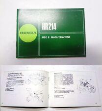 Manuale manual libretto uso manutenzione rasaerba lawnmower HONDA HR 214