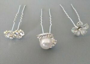 Bridal Hair Pins Pearl, Butterfly and Flower for Wedding
