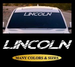 Lincoln Windshield Vinyl Decal Banner Sticker White Black Silver Red for Ford 5
