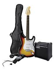 E-Gitarre Set, E-Gitarre sunburst mit Verstärker, Tasche, Kabel und Lernheft