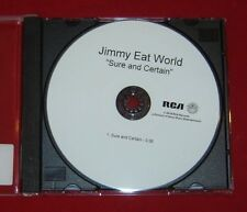 JIMMY EAT WORLD  SURE AND CERTAIN  2016 RCA TEST PRESSING CD SINGLE